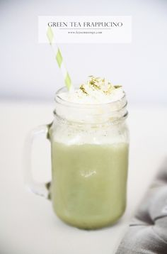 Green tea frappucino ღ