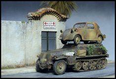 1/35 scale models Scale Models, Diorama, Military Vehicles, Studios, Miniatures, War, History, Ideas, Historia