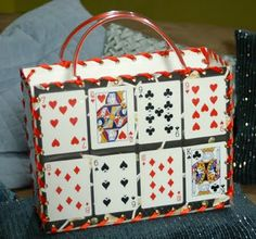 This reminds me of my Grandma.  If she was still with us i'd make it for her. #Playing card purse