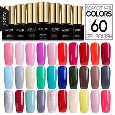 Azure 7ML Long Lasting Gel Polish UV Led Nude Color Series Nail Gel Polish French Style Gel Nail Varnish Soak off Nail Gel  #Affiliate