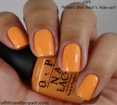 OPI:  ★ Where Did Suzi's Man-go ★  OPI Brazil Collection Spring / Summer 2014
