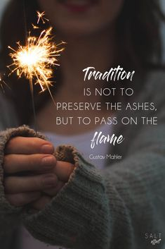 "Why do our favorite traditions mean so much to us? The value of solid family traditions goes way beyond the ""feel-good"" factor. Bottom line: some traditions are worth the time even when time is the one thing we never seem to have. #inspirationalquotes"