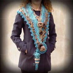 bufanda fringe crochet - Buscar con Google