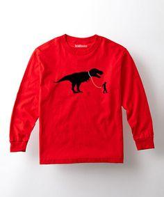 Look at this #zulilyfind! Red Pet T-Rex  Tee - Toddler & Kids #zulilyfinds