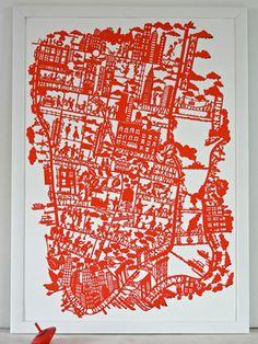 maps by famille summerbelle, manhattan