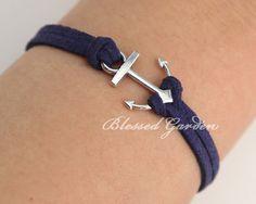 Anchor bracelet navy bracelet ocean bracelet by BlessedGarden, $1.99