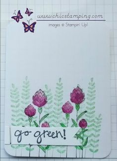 DIY project life card serie Flowering Fields with Stampin'Up! products. More cards at www.chicstamping.com #Stampin'Up!
