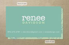 Flora Business Cards by Kristen Smith at minted.com