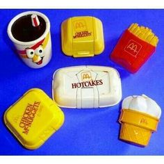 McDonalds playset. Used to love these they had such a homey  warm vibe about them. I'd pretend to smell the food when they opened up.