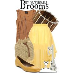 """""""Brooms"""" by lalakay on Polyvore #disney  sweep away the awkwardness :) @Denise H. grant Letterman"""
