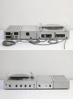 The Braun Studio 2 set up looks just as good from the back as it does from the front. Audio Design, Sound Design, Radios, Dieter Rams Design, Braun Dieter Rams, Braun Design, Electrical Products, Security Tips, Record Players