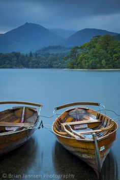 Rowboats on Derwentwater, the Lake District, Cumbria, England. © Brian Jannsen Photography