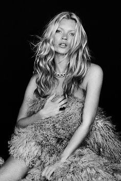 Kate Moss with long wavy hair #beauty #model