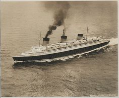 French Line NORMANDIE post-refit