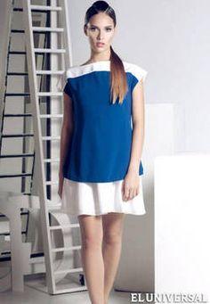 La colección Geometría, de la firma Camila Isabel, está compuesta por pantalones, vestidos largos y cortos, tops asimétricos, blusas, faldas y chaquetas. Los colores utilizados son el rojo, azul, blanco, negro y no hay estampados en esta colección.