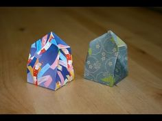 Origami - Boite Japonaise à Compartiments: Masu (HD) - YouTube Origami Gift Bag, Box Origami, Origami Videos, Christmas Origami, Diy Projects To Try, Paper Cutting, Quilling, Decorative Boxes, Wraps