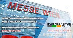 Heute hat die Messe BAUEN & ENERGIE in Wien begonnen!