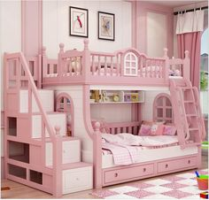 Cheap bunk bed, Buy Quality bed girl directly from China princess bed Suppliers: bunk bed pink childern bed Solid wood bady fluctuation bed girl princess bed Bed For Girls Room, Cool Kids Bedrooms, Kids Bedroom Sets, Bedroom Furniture Sets, Little Girl Rooms, Girls Bedroom, Girls Bunk Beds, Trendy Bedroom, Kid Beds