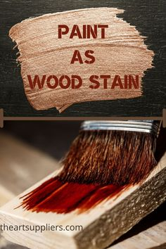Paint as wood stains  Wood painting techniques  Wood painting   Painting wood  Paint on wood diy Wood Painting Techniques, Oil Painting For Beginners, Types Of Painting, Diy Painting, Painting On Wood, Paint Brush Sizes, No One Is Perfect, Art Inspiration Drawing, Paint Drying
