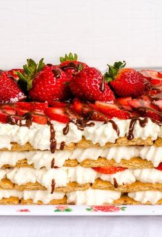 No-Bake Strawberry Icebox Cake. http://www.thekitchn.com/