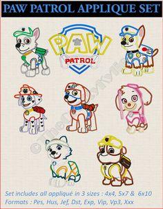 Paw Patrol Applique Set Machine Embroidery por TheCraftyKylie