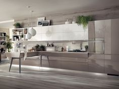 Fitted kitchen MOTUS Scavolini Line by Scavolini design Vittore Niolu