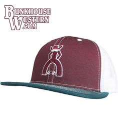 competitive price 4a932 21b37 Punchy brand caps by Hooey, Angelo Trucker Hat, Burgundy, teal   white cap