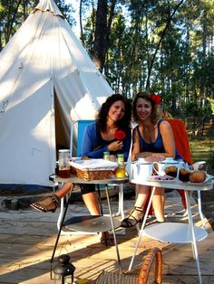 Breakfast at the terrace of our Glamour Tipi tent. So lovely time! Escape, Camping Glamping, Outdoor Gear, Terrace, Glamour, Breakfast, Balcony, Morning Coffee, Patio