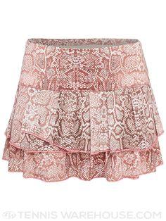 Lucky in Love Blush Snake Print Pleat Tier Tennis Skirt
