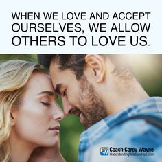 "#success #coaching #coachcoreywayne #confidence #quote #motivationalquote #relationships #women #sex #dating #attraction #love #seduction #communication #getexback #relationshiphelp #dreams #goals #marriage Photo by PeopleImages/iStock ""When we love and accept ourselves, we allow others to love us."" ~ Coach Corey Wayne"