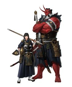 ArtStation - Father and Daughter, ilsu jang Fantasy Character Design, Character Creation, Character Design Inspiration, Game Character, Character Concept, Concept Art, Dungeons And Dragons Characters, Dnd Characters, Fantasy Characters