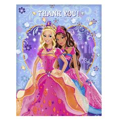 Greeting Cards & Invitations Barbie Diamond Castle Thank You Cards Birthday Party Supplies Stationery & Garden Thank You Notes, Thank You Cards, Castle Cartoon, Barbie Fairytopia, Barbie Cartoon, Barbie Friends, 8th Birthday, Party Supplies, Stationery