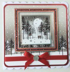 Hunkydory - Winterland wal k. Christmas Cards 2017, Christmas Scenes, Christmas Past, Xmas Cards, Christmas Craft Fair, Handmade Christmas, Card Making Inspiration, Making Ideas, Hunkydory Crafts