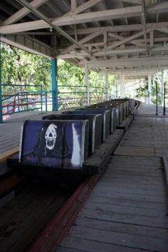 Abandoned Nightmare roller coaster. Joyland Amusement Park, opened in 1949, closed in 2006. Wichita, KS