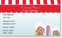 candy store chocolate Premium Business Cards