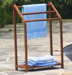 A great teak outdoor towel rack, if that's what you're in to.