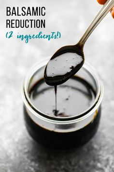 Reduction This easy balsamic reduction (or balsamic glaze) has just two ingredients and tastes so much better than store bought!This easy balsamic reduction (or balsamic glaze) has just two ingredients and tastes so much better than store bought! Balsamic Reduction Recipe, Balsamic Glaze Recipes, Honey Balsamic Glaze, Italian Recipes, New Recipes, Favorite Recipes, Healthy Recipes, Recipies, Snacks Recipes