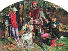 William Holman Hunt, los dos hidalgos de Verona: Valentine rescuing Silvy from Proteus: model for Silvy Effie Gray