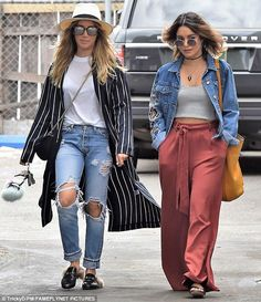 Best friends reunited: Ashley Tisdale (L) and Vanessa Hudgens went shopping together in Beverly Hills on Tuesday