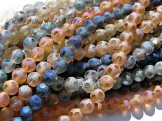 100 Amazing Frosted Electroplate 8mm Glass beads. Starting at $5 on Tophatter.com!