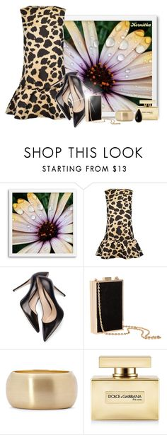 """nr 1240 / Leopard Print Dress"" by kornitka ❤ liked on Polyvore featuring West Elm, Moncler, H&M, Bold Elements, Dolce&Gabbana and Diane Von Furstenberg"