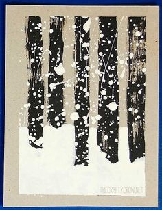 Book and Activity Advent Day Snowy Woods Art and Stopping By Woods On A Snowy Evening (The Crafty Crow) Diy For Kids, Crafts For Kids, Arts And Crafts, January Art, Snowy Woods, Winter Trees, Snow Trees, Winter Art Projects, Middle School Art