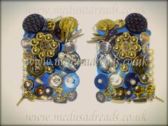 Blue based Vintage Button & Bling Epaulettes (By @Ooh Outre)