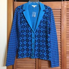 Isaac Mizrahi Sweater - Medium Gorgeous blue sweater 100% cotton.  Selling because it's too small for me. Isaac Mizrahi Sweaters Cardigans