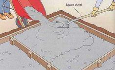 Pouring Concrete Slab, Poured Concrete Patio, Concrete Pad, Cement Patio, Concrete Projects, Laying Concrete, Outdoor Projects, Diy Projects, Concrete Floors