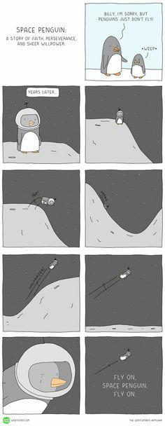 Space penguin...