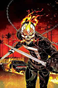 The new Ghost Rider, Robbie Reyes.