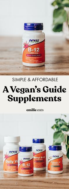 What supplements should vegans take? Here is an in-depth guide to vegan supplements that you and your healthcare provider can use to determine what's appropriate for you. @nowfoods #NOWWellness #sponsor Best Vegan Bread Recipe, Best Vegetarian Recipes, Vegan Dinner Recipes, Healthy Salad Recipes, Vegan Dinners, Dairy Free Recipes, Vegan Recipes Easy, Whole Food Recipes, Healthy Snacks