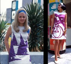 Vintage Olympics dresses... this makes me want to do some block dyeing or screen printing!