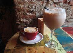 Coffee at La Bicicleta cafe, Madrid, Spain: